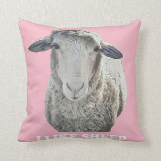 I Like Sheep Funky Throw Pillow