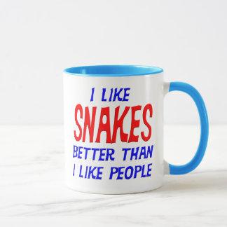 I Like Snakes Better Than I Like People Mug