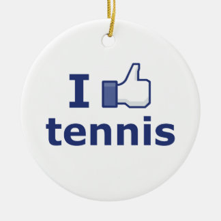 I Like Tennis Christmas Ornament
