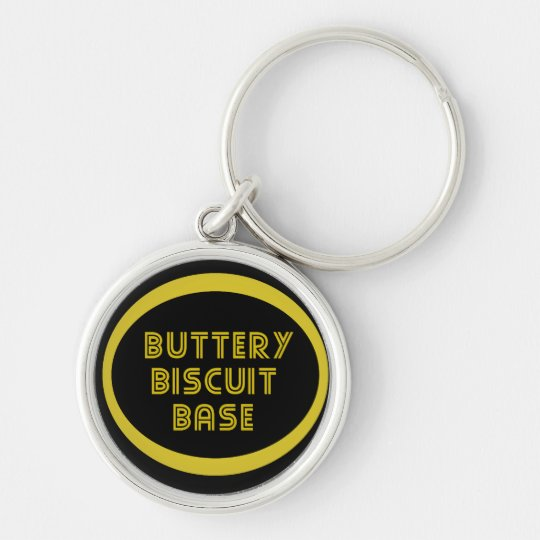 I like the buttery biscuit base Silver-Colored round key ring