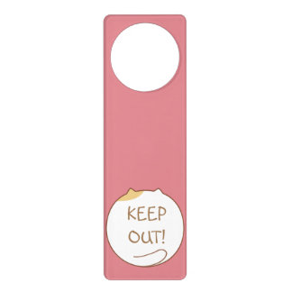 I like to be alone! (Cute Cat) Door Hanger