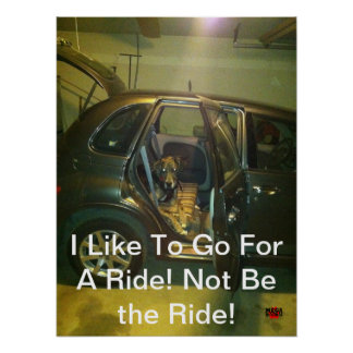 I Like To Go For A Ride! Not Be the Ride! Posters
