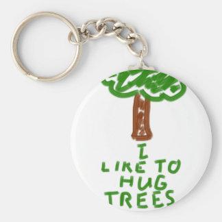 I Like to Hug Trees Key Ring