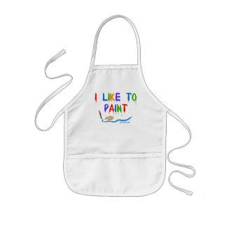 I like to paint - kid's apron