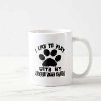 I like to play with my American Water Spaniel. Coffee Mugs