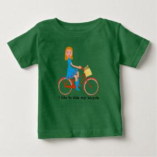 I like to ride my bike baby T-Shirt