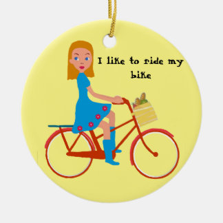 I like to ride my bike christmas ornament