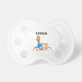 I like to ride my bike pacifiers