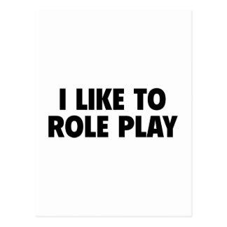 I Like To Role Play Postcard
