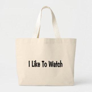 I Like To Watch Canvas Bag