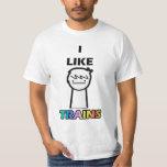 I LIKE TRAINS ASDF MOVIE T-Shirt