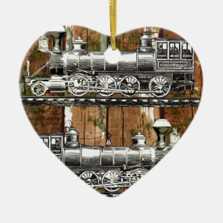 I Like Trains Ceramic Heart Decoration