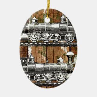 I Like Trains Ceramic Oval Decoration