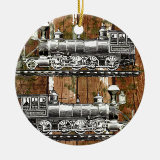 I Like Trains Round Ceramic Decoration