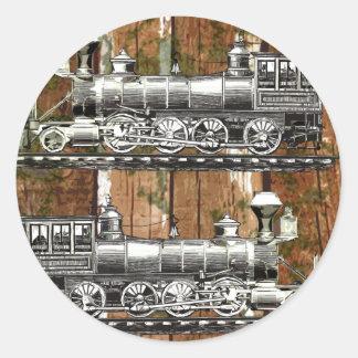 I Like Trains Round Sticker