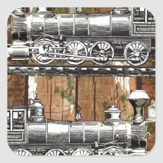 I Like Trains Square Sticker