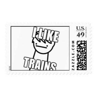 I like trains stamps