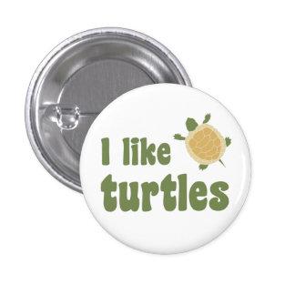 I Like Turtles 3 Cm Round Badge