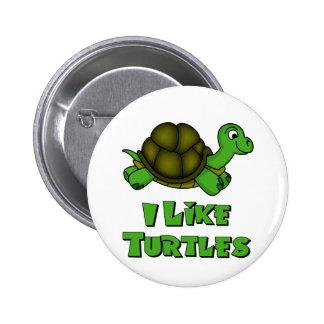 I Like Turtles 6 Cm Round Badge
