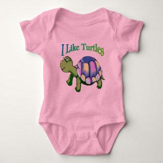 I Like Turtles Baby Bodysuit