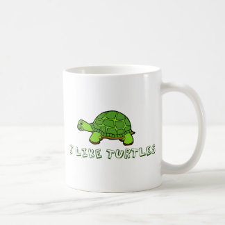 I Like Turtles Green Cute Coffee Mug
