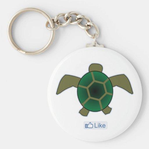 I Like Turtles Key Chain