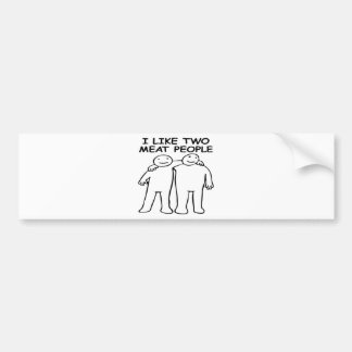 I LIKE TWO MEAT PEOPLE BUMPER STICKERS