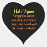 I Like Vegans Heart Sticker