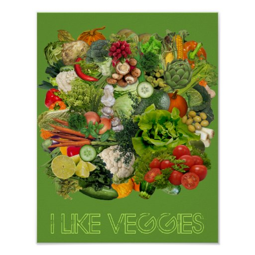 I like Veggies Poster