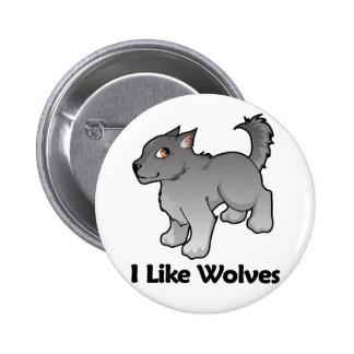I Like Wolves 6 Cm Round Badge