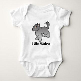 I Like Wolves Baby Bodysuit