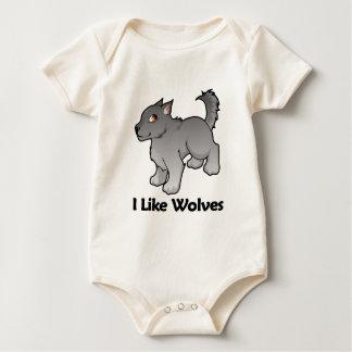 I Like Wolves Baby Bodysuits