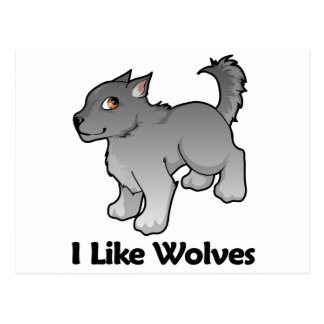 I Like Wolves Postcard