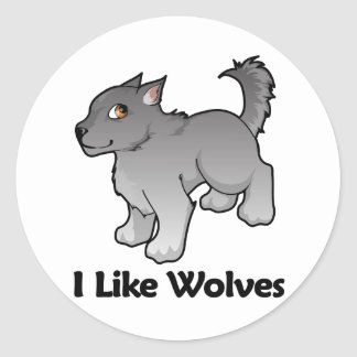 I Like Wolves Stickers