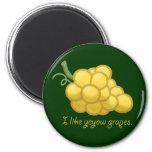 """""""I Like Yeyow Grapes"""" Fridge Magnets"""