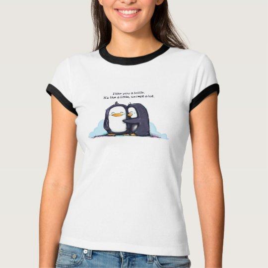 I Like You a Lottle Penguin - Women's