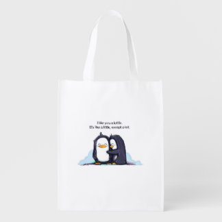 I Like You a Lottle Penguins - Reusable Bag