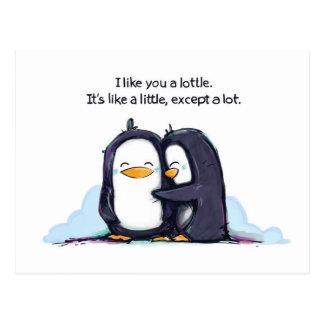 I Like You a Lottle - Postcard Post Card
