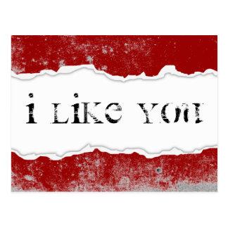 i like you page rip postcard