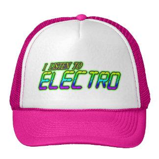 I LISTEN TO ELECTRO MESH HAT