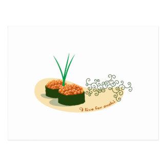 I Live For Sushi Postcard