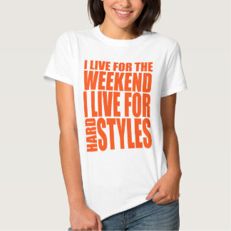 I Live For The Weekend (Orange) Tee Shirts