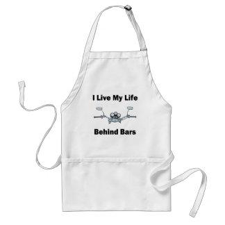 I Live My Life Behind Bars Standard Apron