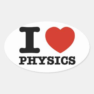 I live Physics Oval Sticker