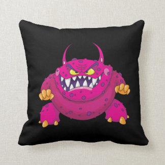 I Live Under Your Bed Funny Monster Black Pillow