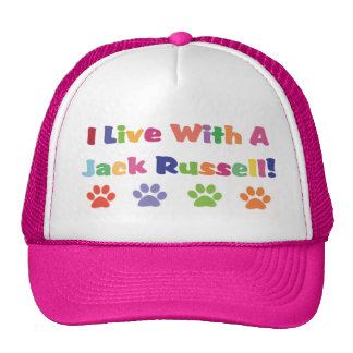 I Live With A Jack Russell Cap
