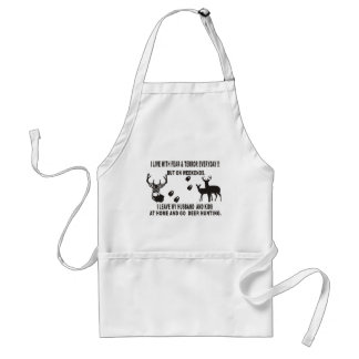I_LIVE_WITH_FEAR___TERROR ADULT APRON