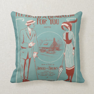 I'll Build a Bungalow for You Cushion