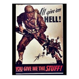 I ll Give Em Hell Postcard