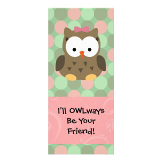 I ll OWLways be Your Friend Personalized Rack Card